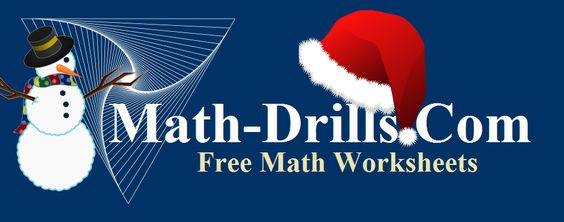 Christmas math worksheets including operations, patterning, geometry and data analysis at Math-Drills.com.