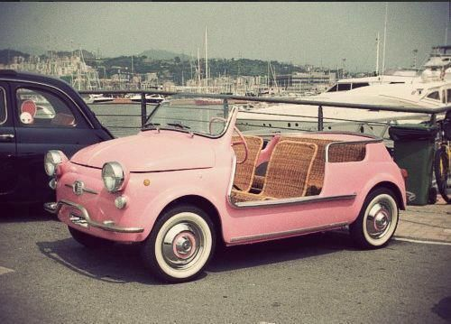Adorable 1950s Fiat, would be perfect for catching a breeze -Mari