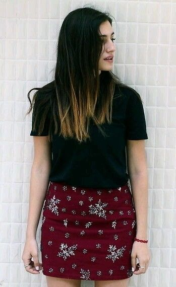 ZARA BURGUNDY RED SEQUINED MINI SKIRT ROCK DRESS SIZE S in ...