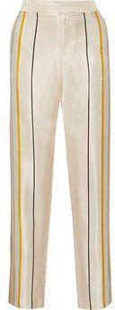 """Pin for Later: Diesen Herbst-Trend könnt ihr ab sofort tragen  Rag and Bone """"Smith"""" gestreifte Hose mit weitem Bein aus Seiden-Twill (415 €)"""