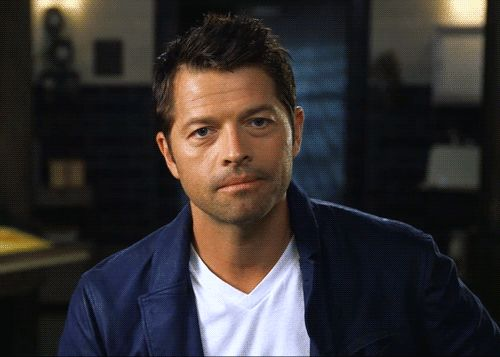 This is just too cute! Misha Collins EW magazine