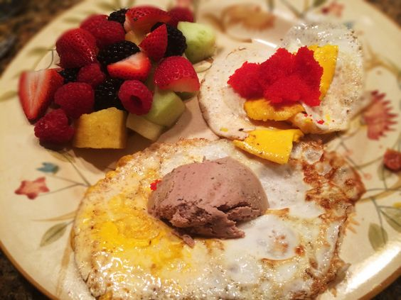 Eggs, Liver Pate, Caviar, And Berries And Honey Dew: 6/26/14