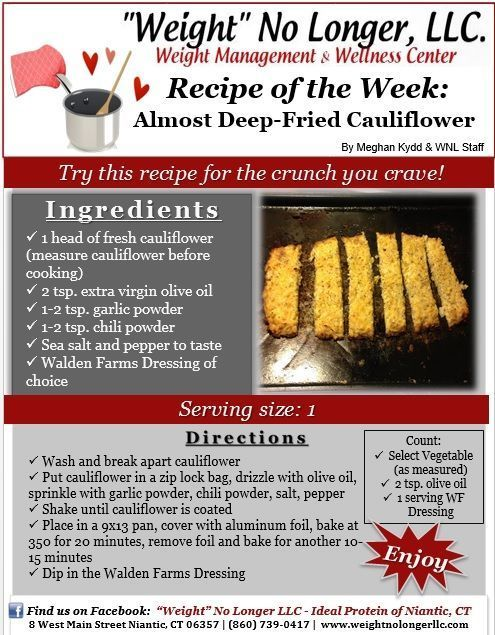Wednesday S Weekly Recipe An Ideal Protein Friendly Almost Deep