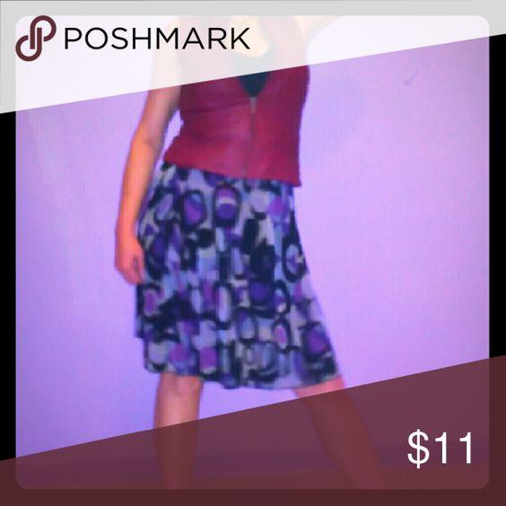 Skirt with Elastic Waist above knee Black Purple Grey above knee Skirt Skirts Mini