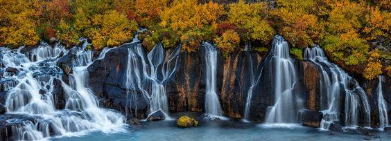 Fall Waterfall Pano by Oleg Ershov - Photo 131650393 / 500px