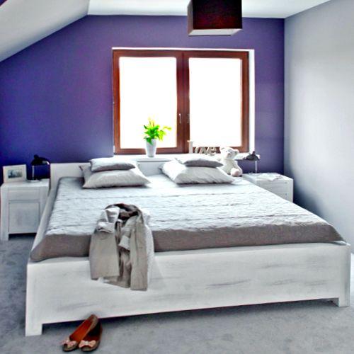 Bett 140x200 cm Massivholz  Kopfteil-Höhe variabel Lattenrost  | www.massiv-aus-holz.de