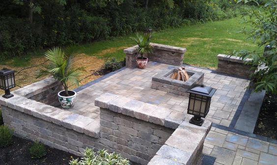 Patio on pinterest for Multi level patio designs
