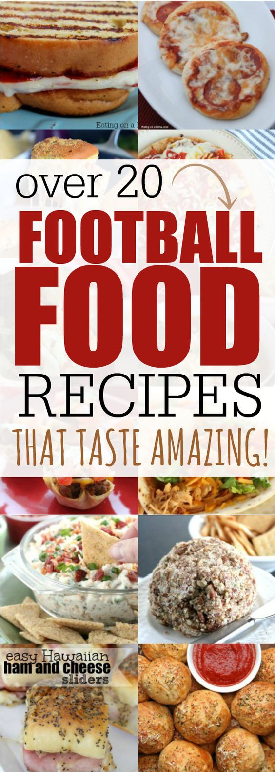 Try these delicious Football Food Recipes;. Everyone will love these easy Game Day appetizers and Game Day Meals.