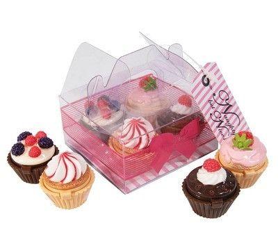Naughty But Nice Lipgloss BOX set of 4 Cupcakes
