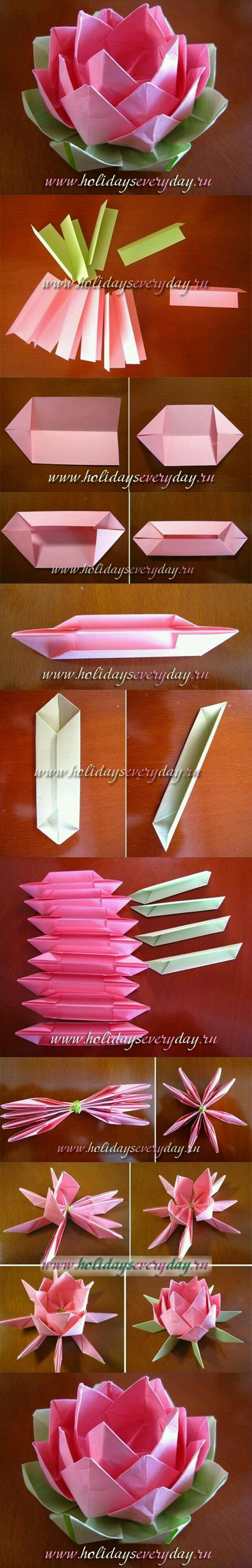 How to create Origami Flowers. Lovely!
