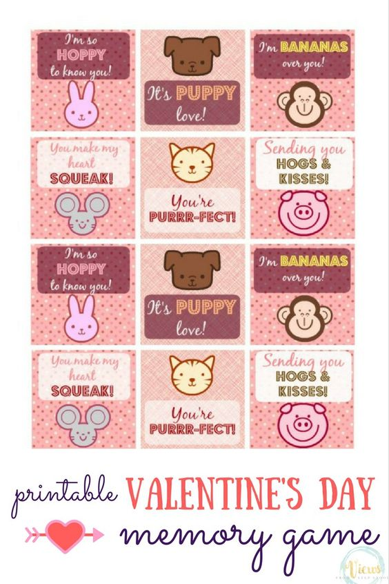 Printable Animal Valentines Day Cards – Animal Valentine Cards