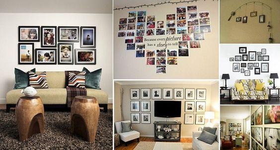 50 Amazing Wall Display Ideas For Family Photos - http://www.homesteadingfreedom.com/50-amazing-wall-display-ideas-for-family-photos/