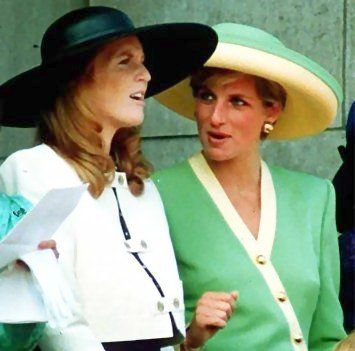 Duchess of York and Princess Diana, October 1990 in Philip Sommerville
