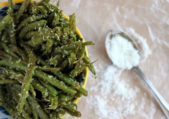 Crunchy Green Beans with Curry and Toasted Coconut