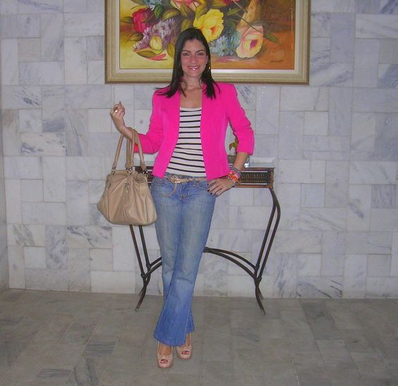 Blazer Pink + Listras