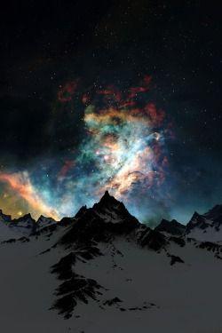 earthyday:  Through the Clouds, Night  by Jeddaka