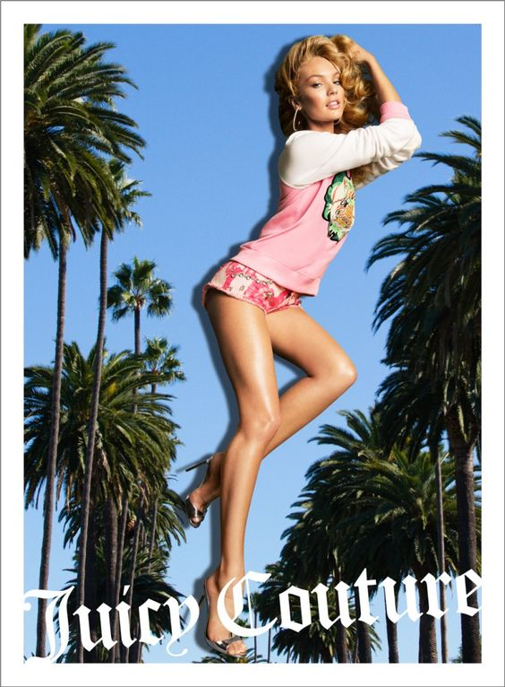 Candice Swanepoel, Natasha Poly and Isabeli Fontana Are California Pin ups for Juicy Coutures Spring 2013 Campaign