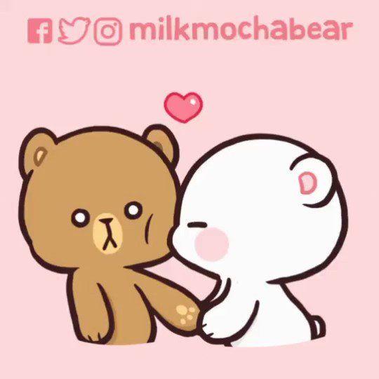 Milk Mocha On Twitter Milk S Kiss Version 1 On Cheek Is This One Of Your Fave Gif Milkmochabear Milka Cheek Kiss Cute Bear Drawings Cute Doodles
