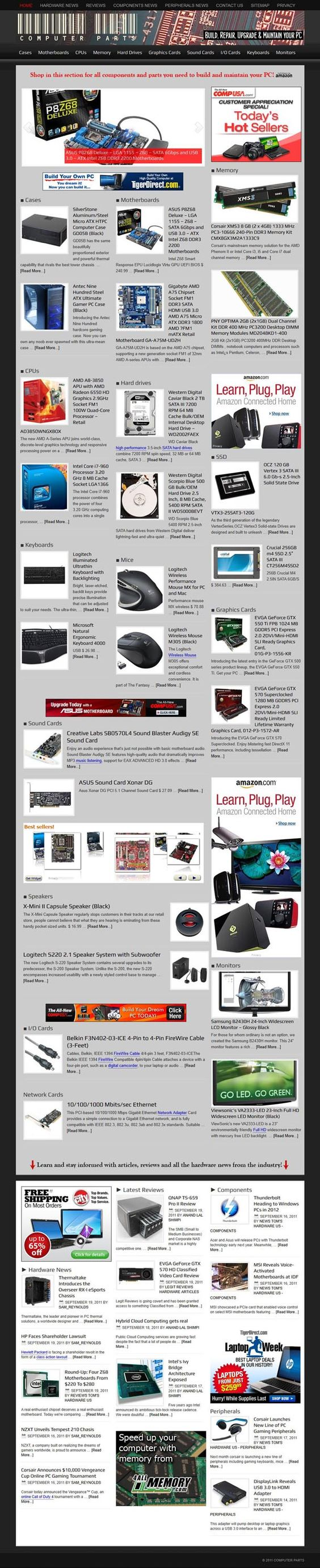 Sell PC parts & computer components  READY MADE WEBSITE FOR SALE!    Completely automated turnkey website about PC parts and components. Perfect for beginners, entirely on autopilot. DOUBLE AUTOMATION with WPRobot and News Aggregator. Every day a different homepage showing the latest products and news from the hardware industry. Extremely high CPC in the top technological niche there is.
