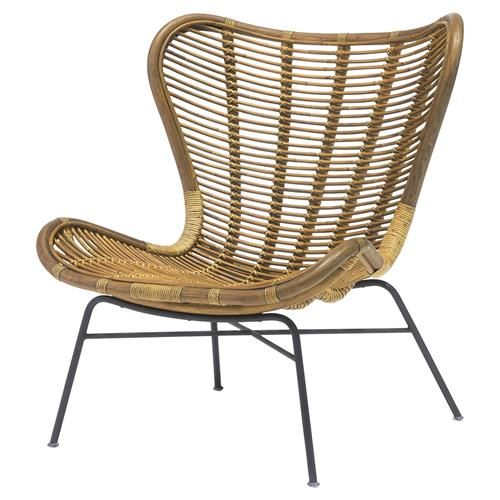 Palecek Sydney Coastal Beach Pole Rattan Frame Metal Base Lounge Chair Lounge Chairs Living Room World Market Dining Chairs Chair