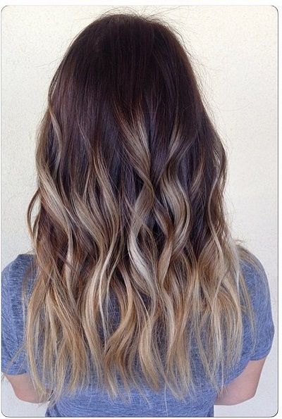 Ash is everywhere right now - here is the bronde ombre version. Color by Emily at Habit Salon.