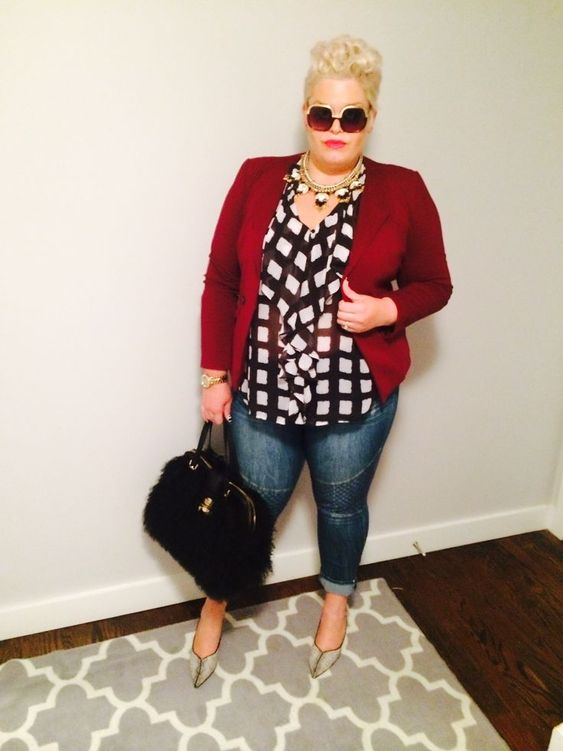 5 all day outfits with red blazer that you will love - plus size fashion for…