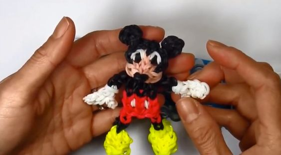 Rainbow Loom MICKEY MOUSE Charm  Disney  - YouTube If your child has mastered the art of loom band bracelet making, and wants to try something a little more complex, here are some fabulous tutorials on how to make some character loom band charms. #loombands