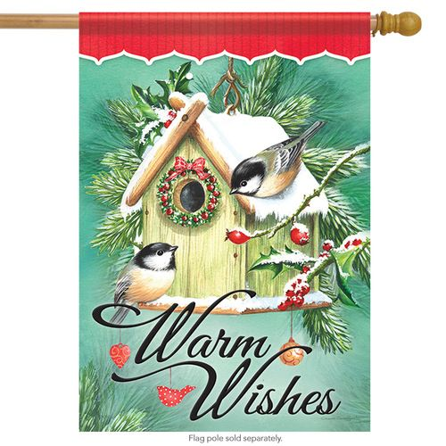 Birdhouse Trimmings Christmas House Flag Christmas Garden Flag Flag Decor House Flags