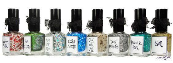 """:: whimsical nailpolish by pam ::  """"eight whimsical nights""""  the 2012 holiday collection"""