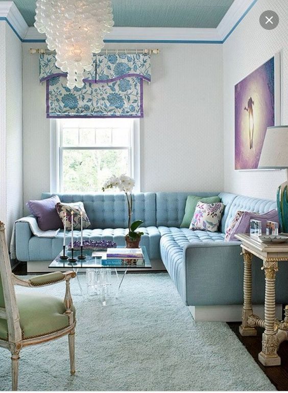 Best Lavender Living Rooms Light Blue And Lavender On Pinterest 400 x 300