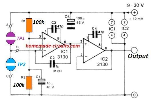 Simple Touch Operated Potentiometer Circuit In 2020 Circuit Projects Electronic Circuit Projects Circuit Design