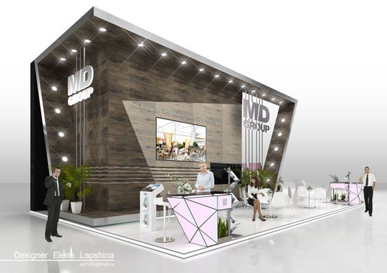 Exhibition Stand Design Behance : Md group by elena lapshina via behance architecture