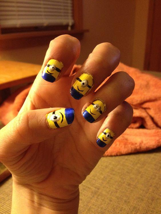 Minion nails! (:
