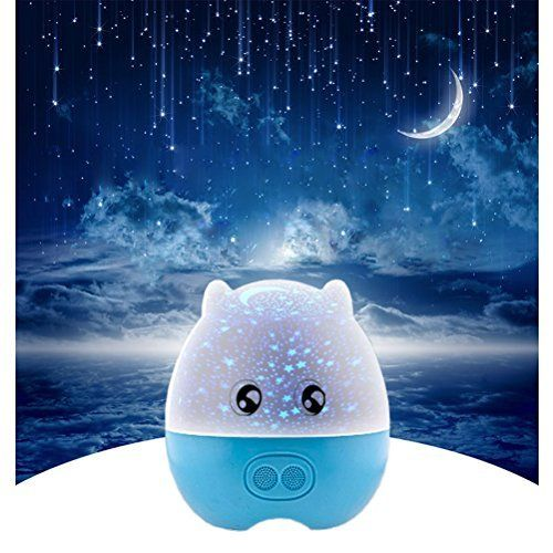 Liwuyou night light projector with music player blue sea for Kids room night light