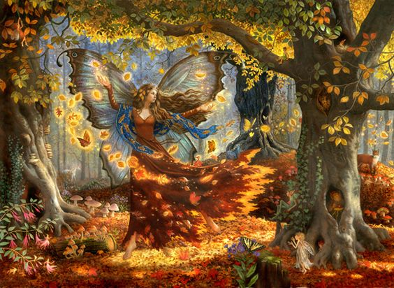 Fall Blowing Leaf Faerie