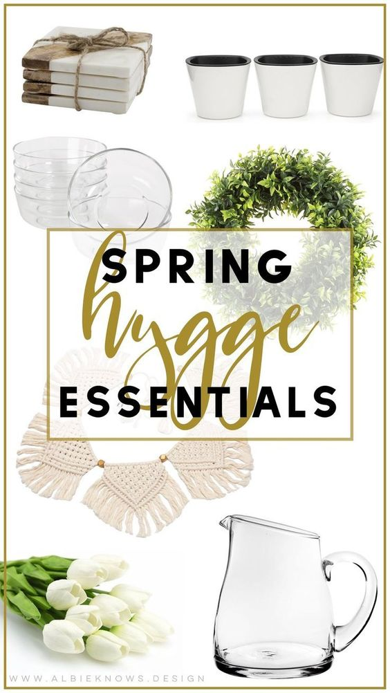 We're so conditioned to think Hygge is synonymous with winter, but that's not the case. While there's an obvious correlation between the two, many elements of Hygge living can be carried into spring! I want to make sure my Hygge living transcends seasons & in addition to actual lifestyle h