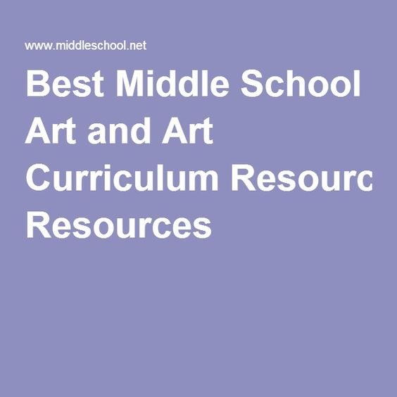 Best Middle School Art and Art Curriculum Resources