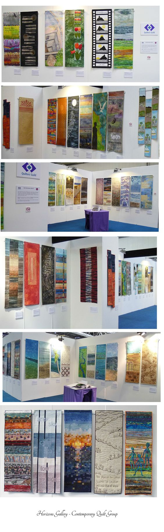 Horizons exhibition by members of the Contemporary group of the Quilters' guild