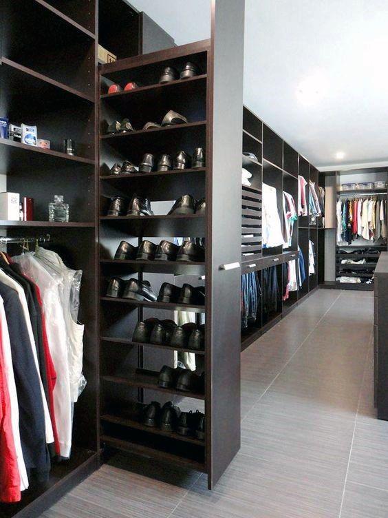 Mens Shoe Closet exclusive walk-in wardrobe offers stunning modular adaptability