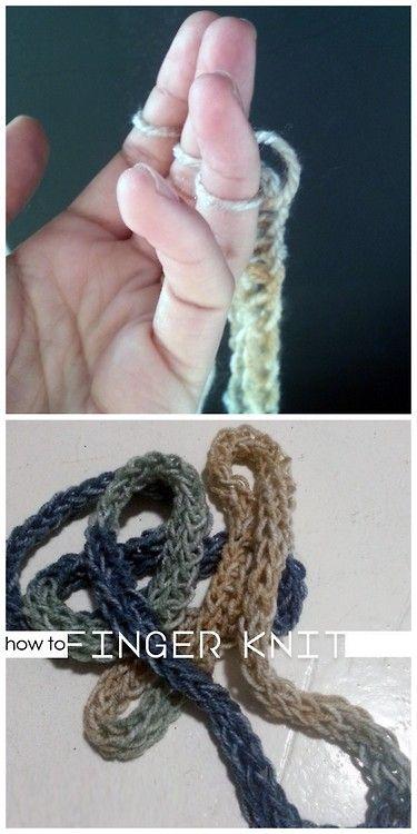 Finger Knitting Uses : Diy finger knitting tutorial using gifs from made in