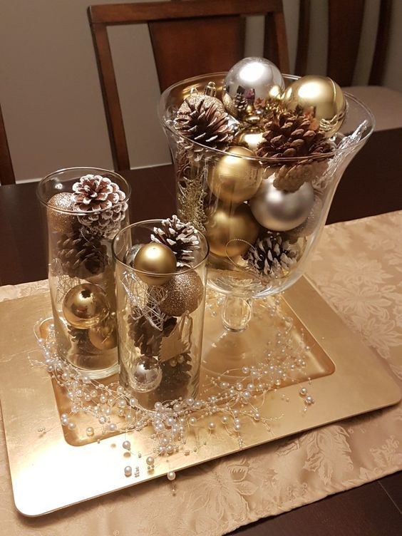 120 Christmas Diy Decorations Easy And Cheap Christmas Centerpieces Christmas Table Decorations Christmas Decorations Rustic