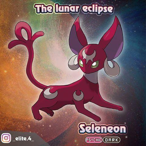Meet Helioseon A New Dual Type Eeveelution A Dark Psychic Type This Pokemon Becomes Stronger Under Pokemon Eeveelutions Cute Pokemon Wallpaper Pokemon Eevee