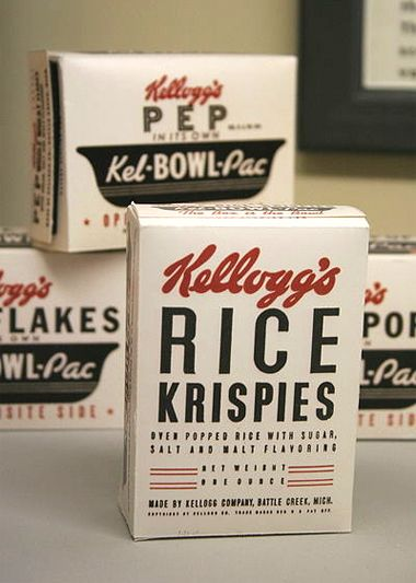 Vintage Kellogg's cereal packaging