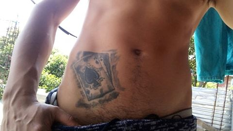 Tatuaje Echo En La Pelvis Para Hombre Cartas De Poker Clasicas