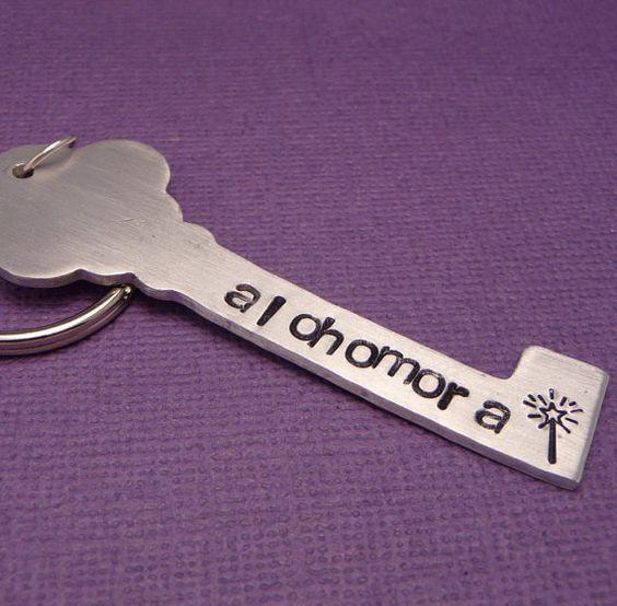 Alohamora stamped keychain, cute idea!