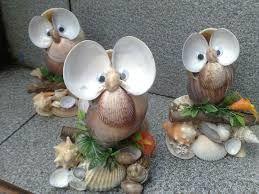 Resultado de imagem para trabalhos artesanais com conchas