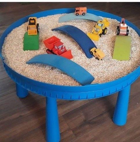 Ikea Hack Voor Een Fijne Sensorische Tafel Tips Voor De Kinderopvang Ikea Hack Ikea Zand Tafel