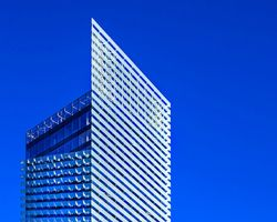 the puig headquarters tower by rafael moneo cuts the sky in barcelona