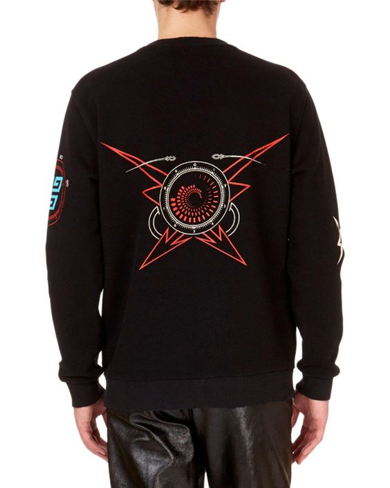 Givenchy Men's Libra-Zodiac Crewneck Graphic Sweatshirt