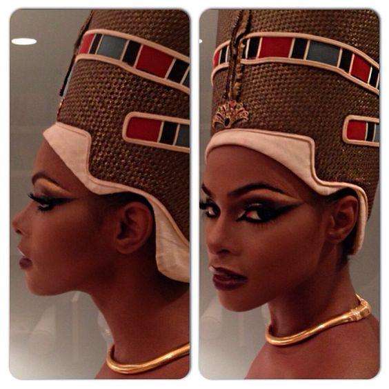 Tika Sumpter as Queen Nefertiti by Celebrity Makeup Artist Ashunta Sheriff